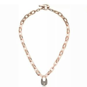 Michael Kors Rose Gold Heritage Padlock Necklace